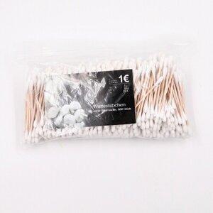 500er-Pack Wattestäbchen / Ohrstäbchen zweiseitig, Baumwolle, braun