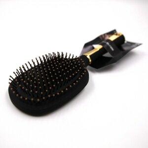 Haarbürste oval Paddle Bürste 27 cm Kunststoff schwarz / gold