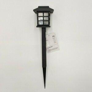 Solarlampe Laterne, 35 x 10 cm, schwarz