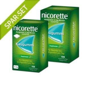 Nicorette 2 mg freshmint Kaugummi Doppelpack 1 St