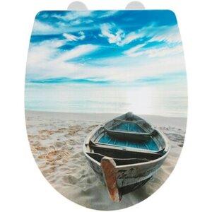 Wenko Premium WC-Sitz Boat High Gloss Thermoplast Mehrfarbig