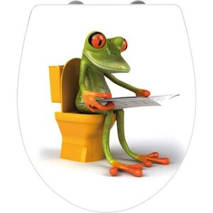 Wenko WC-Sitz Frog News Duroplast mit Absenkautomatik