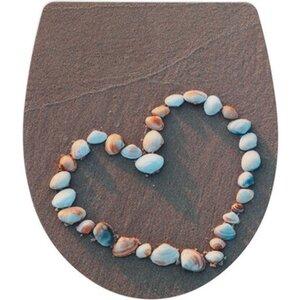 Wenko WC-Sitz Shell Heart Duroplast Acryl