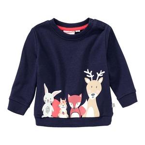 Baby-Mädchen-Sweatshirt mit Waldtieren