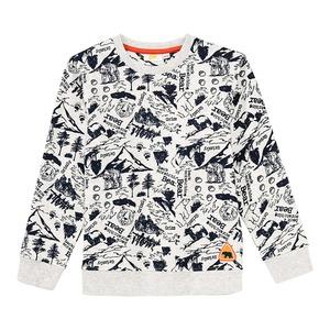 Jungen-Sweatshirt mit Waldmuster