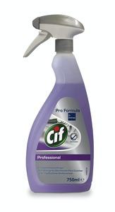 Cif Professional Desinfektionsreiniger, Küchenreiniger reinigt und desinfiziert, Lebensmittelbereich, HACCP-konform, 750 ml, Sprühflasche