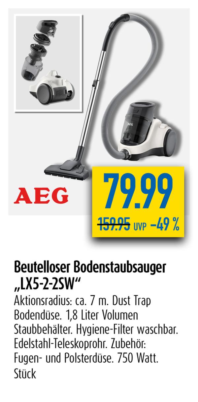 Beutelloser Bodenstaubsauger LX5-2-2SW