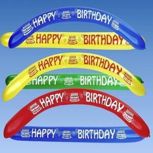 Bannerballons Happy Birthday, 2 Stk.