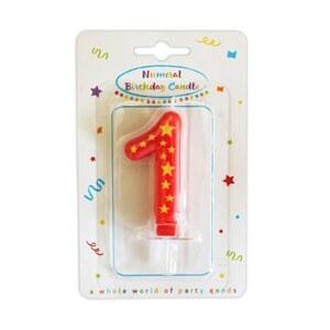 Geburtstagkerze als Zahl 1