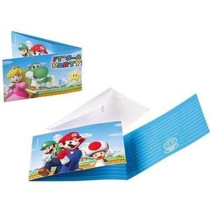 Super Mario 8 Einladungskarten
