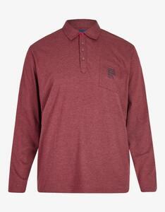 Big Fashion - Poloshirt mit langen Ärmeln und Brusttasche