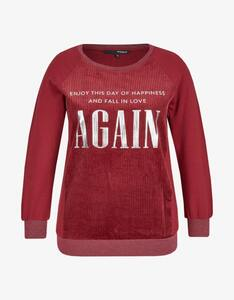 MY OWN - Sweatshirt mit Cord und Letterprint