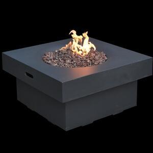 Elementi Gas Feuerstelle Branford aus Faserbeton in Betonoptik schwarz