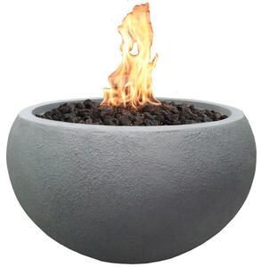 Modeno Gasfeuerstelle Marra Beton-Optik grau aus Faserbeton