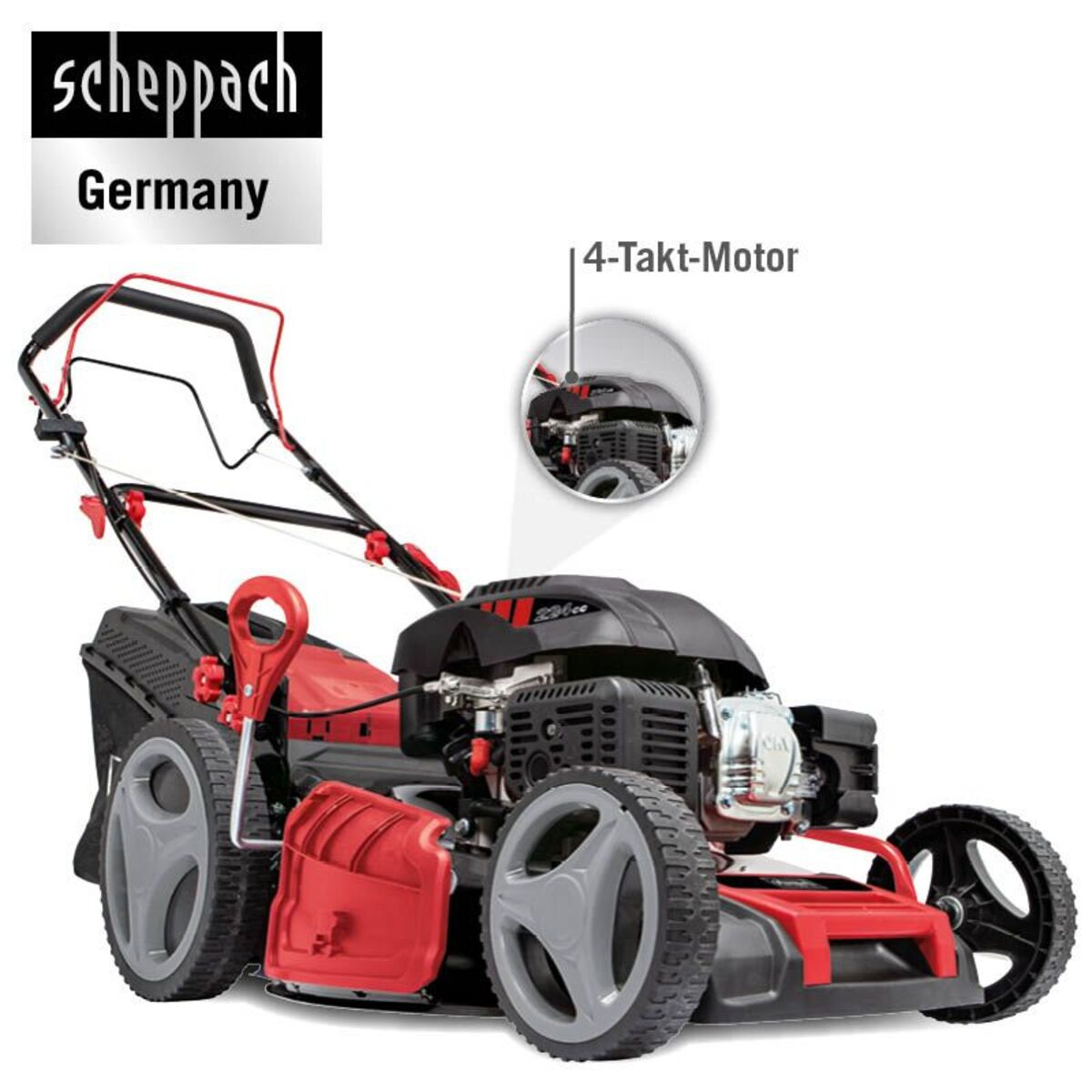 Bild 1 von Scheppach 6 in 1 Benzin-Rasenmäher MS226-53 SE