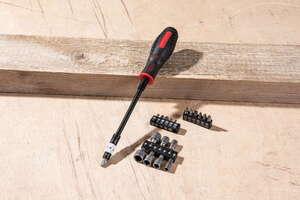 Kraft Werkzeuge Flexibler Schraubendreher mit Bit-Set - 20tlg.