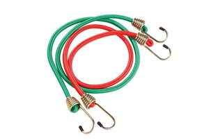 Kraft Werkzeuge Farbiges Spannseil-Set mit Spiralhaken - 12tlg.