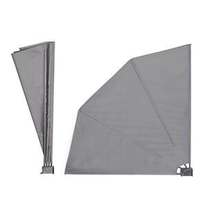 Never Indoor Seitenmarkise 120 x 120 cm SLTM04-GRA grau