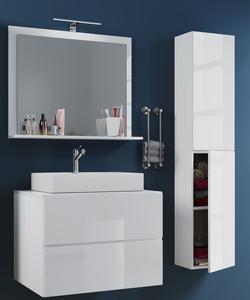 VCM Badblock Lendas L 60cm Unterschrank + Spiegel + 1 Seitenschrank Weiß