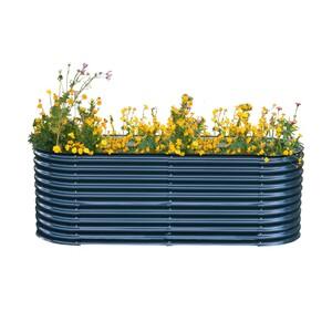 Powertec Garden Stahl Oval Hochbeet XL - Anthrazit