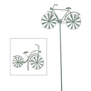 Metall-Gartenstab Fahrrad 160cm Antik-Grün