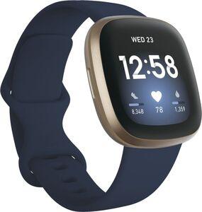 Fitbit Versa 3, Aluminium, nachtblaues Armband