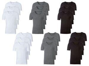 LIVERGY® Herren Unterhemd, 3 Stück, aus reiner Baumwolle
