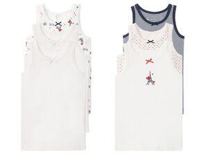 LUPILU® Kleinkinder Unterhemd Mädchen, 3 Stück
