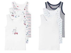 LUPILU® Kleinkinder Unterhemd Jungen, 3 Stück