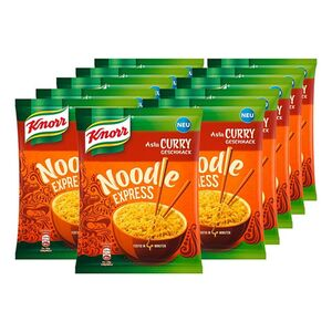 Knorr Asia Express Nudeln Curry 70 g, 11er Pack