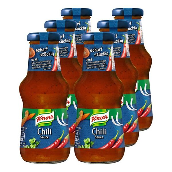Knorr Chili-Sauce 250 ml, 6er Pack