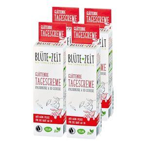 BLÜTE-ZEIT Glättende Tagescreme 50 ml, 4er Pack