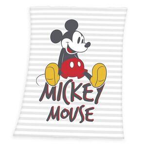 Disney's Mickey Mouse Kuscheldecke, weiß/grau