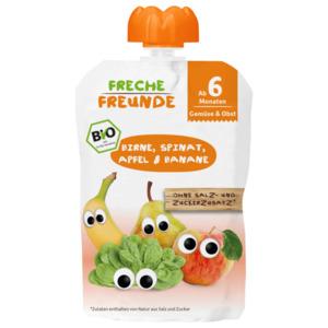 Freche Freunde Bio Birne, Spinat, Apfel & Banane 100g