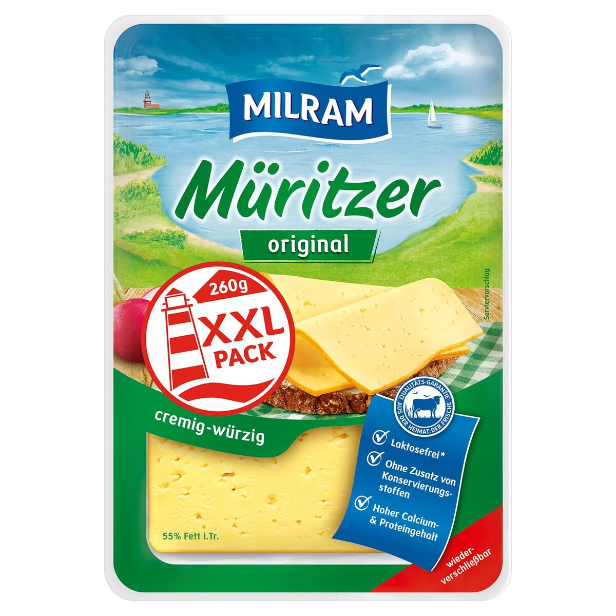 Bild 2 von MILRAM Käsescheiben 260 g