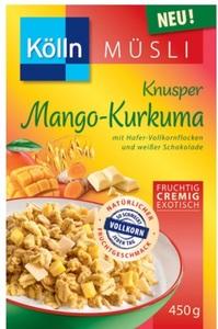 Kölln Müsli Knusper Mango-Kurkuma 450 g