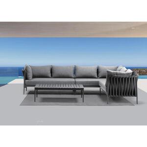 Amatio Loungegarnitur beige aluminium , Venerona , Metall, Textil , pulverbeschichtet , 001807000409