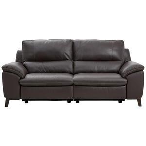 Celina Home Dreisitzer-sofa echtleder dunkelbraun , U255 -Exklusiv- , Leder , 2-Sitzer , 216x97x95 cm , pigmentiert , Typenauswahl, Lederauswahl, Rücken echt , 000306004503