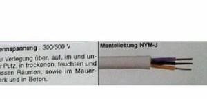 Feuchtraumleitung NYM-J 3 x 2,5 - 50 Meter, grau