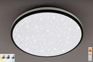 Di-Ka LED CCT Deckenleuchte schwarz, 24 W, 2400 lm, Sternenhimmel, dimmbar, Fernbedienung