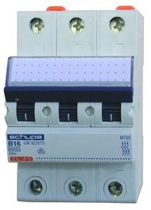 Gewiss Leitungsschutzschalter, B, 16 A B16A, 3-polig
