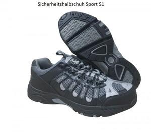 Sicherheitshalbschuh Sport S1 Größe 43, schwarz-grau