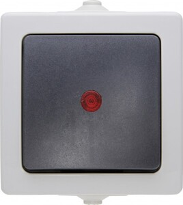 Kopp Feuchtraum Kontrollschalter Nautic ,  grau
