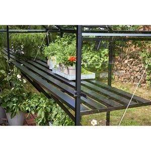 Tisch für Gewächshaus 'Qube 68' schwarz 244 x 64 x 9 cm