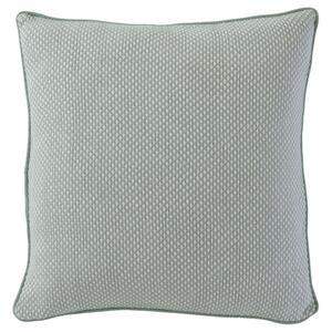 ASKLÖNN Kissenbezug, hellgrün/weiß