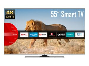 JVC LT-55VU8055 55 Zoll Fernseher (Smart TV, Prime Video / Netflix, 4K UHD mit Dolby Vision HDR / HDR 10, Bluetooth, Triple-Tuner, HD+)