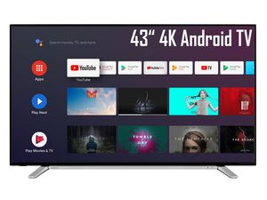 TOSHIBA 43UA2B63DG 43 Zoll Fernseher (Android Smart TV, Google Play Store & Google Assistant, 4K UHD mit Dolby Vision HDR / HDR 10, Bluetooth, Triple-Tuner)