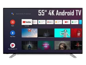 TOSHIBA 55UA2B63DG 55 Zoll Fernseher (Android Smart TV, Google Play Store & Google Assistant, 4K UHD mit Dolby Vision HDR / HDR 10, Bluetooth, Triple-Tuner)