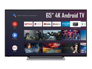 TOSHIBA 65UA3A63DG 65 Zoll Fernseher (Android Smart TV, Google Play Store & Google Assistant, 4K UHD mit Dolby Vision HDR / HDR 10, Bluetooth, Sound by Onkyo Triple-Tuner)