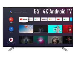 TOSHIBA 65UA2B63DG 65 Zoll Fernseher (Android Smart TV, Google Play Store & Google Assistant, 4K UHD mit Dolby Vision HDR / HDR 10, Bluetooth, Triple-Tuner)